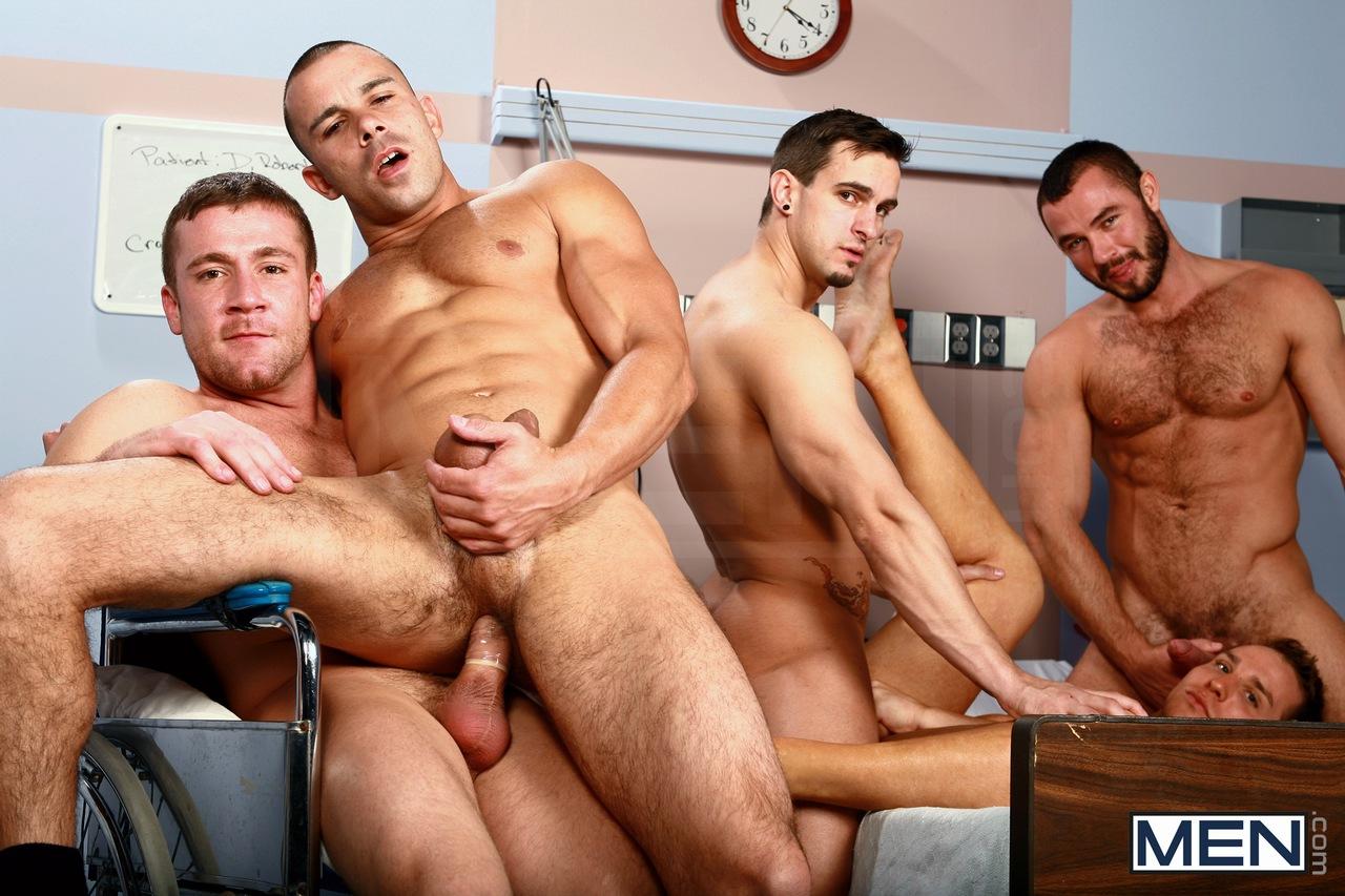 Three gay men nursing home porn