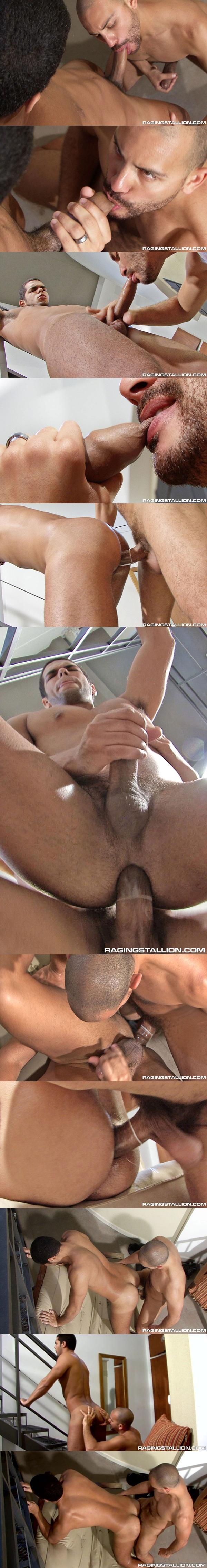 Bahiano Fox takes Antonio Biaggi's big dick at Ragingstallion 02