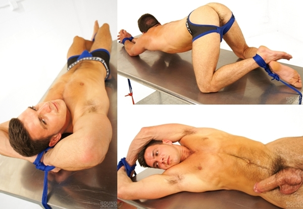 British muscle jock Paddy O'Brian tied at Boundjocks 01
