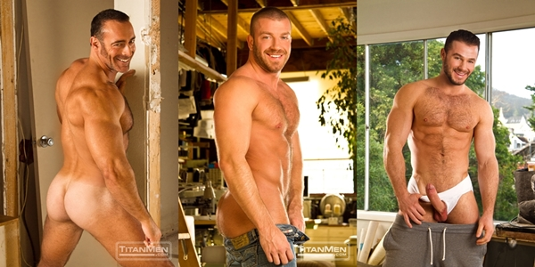 sexy manly rugged Brad Kalvo Hunter Marx Jessy Ares at Titanmen 01