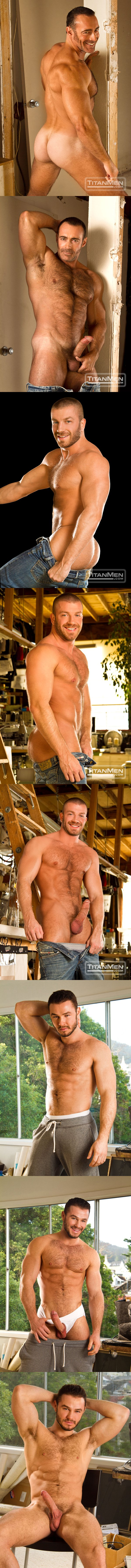 sexy manly rugged Brad Kalvo Hunter Marx Jessy Ares at Titanmen 02