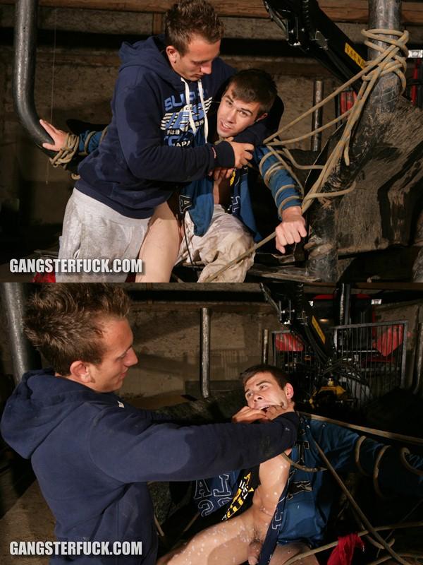 Luke tortures, kicks and beats James at Gangsterfuck 01