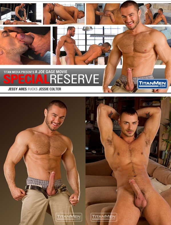 muscular Jessy Ares plows tattooed Jessie Colter at Titanmen 01