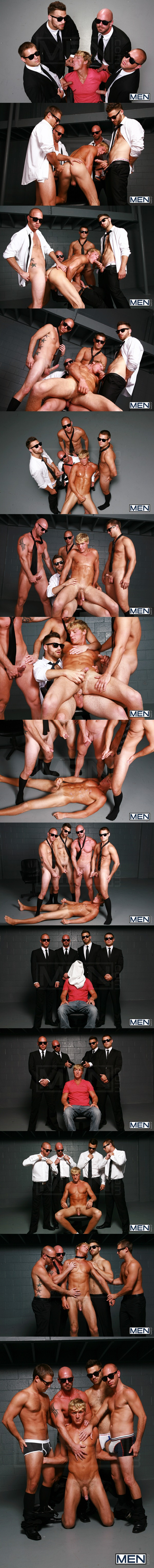 Mitch Vaughn, Tommy Defendi, Rex Roddick & Bobby Clark gangbang fuck Gavin Waters at Jizzorgy 02