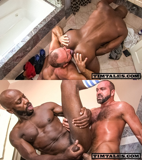 rugged Josh West power-fucks black muscle Race Cooper at Timtales 01