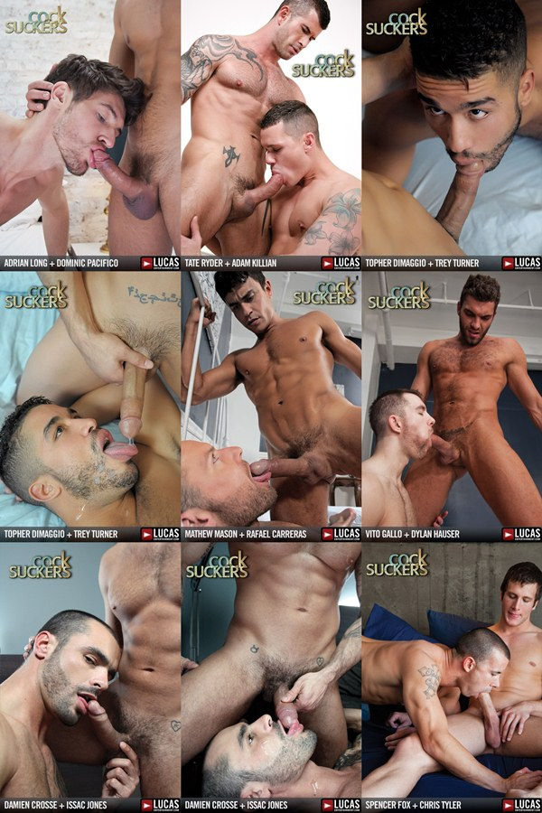 rugged handsome Men blow and swallow uncut cock at Lucasentertainment 01