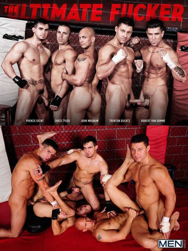 The Ultimate Fucker five way orgy at Men.com 01