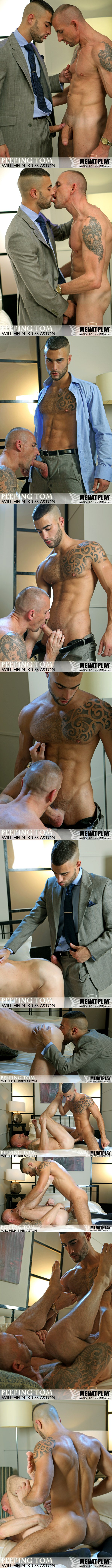 Will Helm kisses, rims and fucks Kriss Aston at Menatplay 02