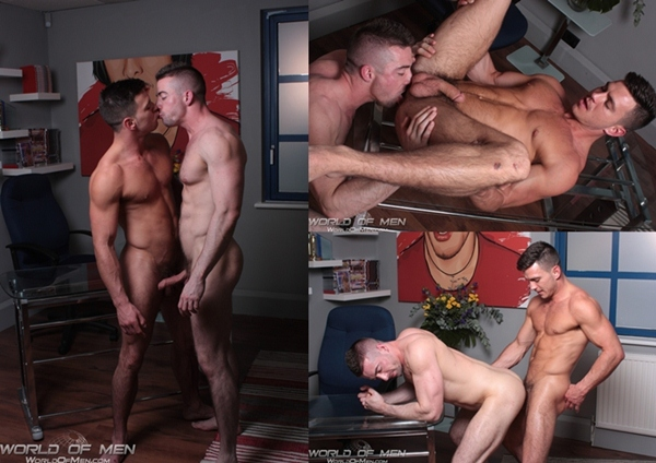 Hot Straight Paddy O'Brian kisses and tops Scott Hunter at Worldofmen 01