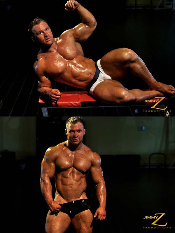 Gerard Dietrich pumping flexing posing Workout at Jimmyzproductions 01