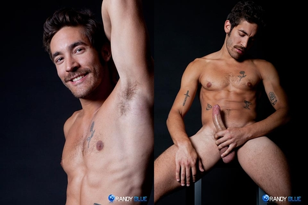 handsome, scruffy face  Dale Cooper busts a nut at Randyblue 01