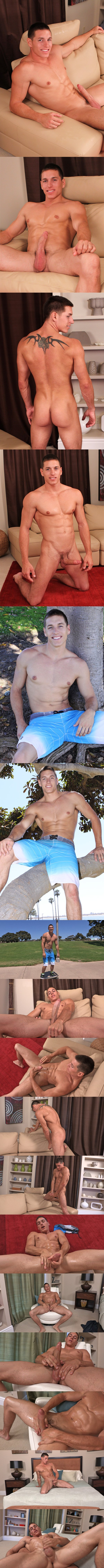 Young hung jock Ashton busts a nut at Seancody 02