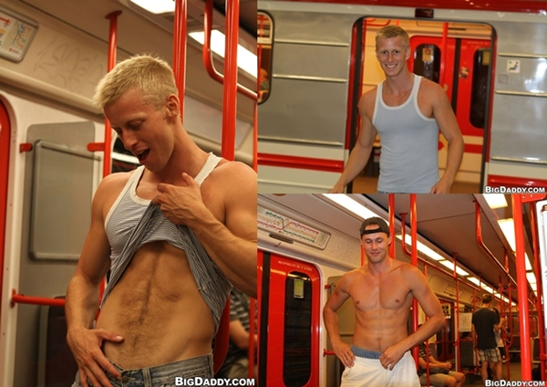 Muscle jocks have Bareback Fucking in a train at Outinpublic 01