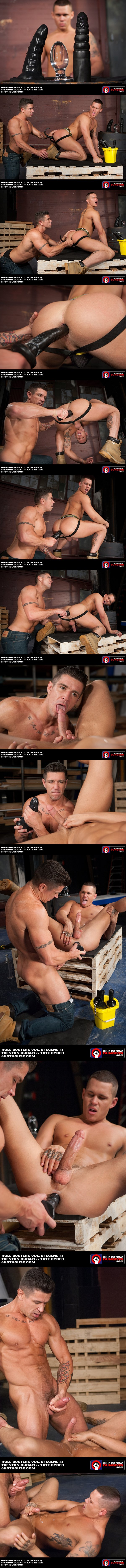 Trenton Ducati toy & buttplug fucking Tate Ryder at Clubinfernodungeon 02