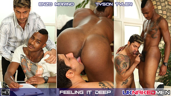 Enzo dildo fucks Tyson at Uknakedmen 01