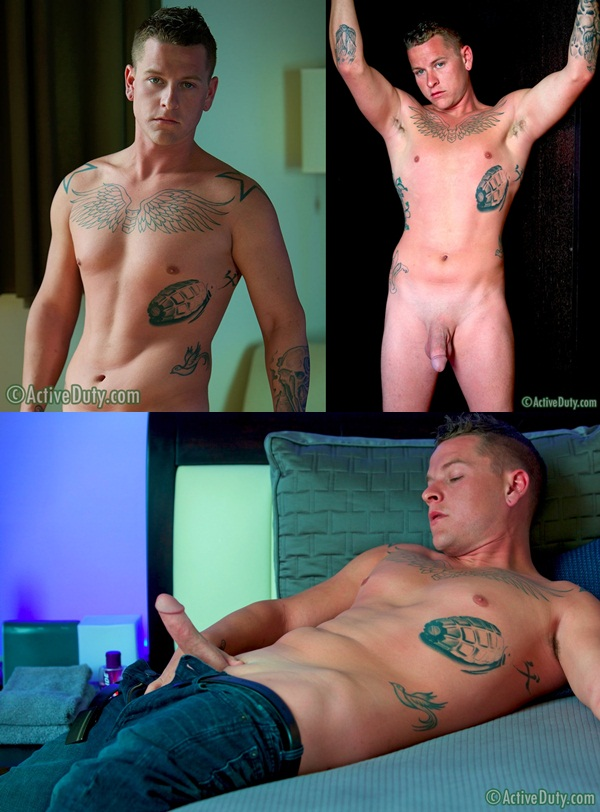 Hot Taxas dude Chip Jerking off debut for War Chest at Activeduty 01
