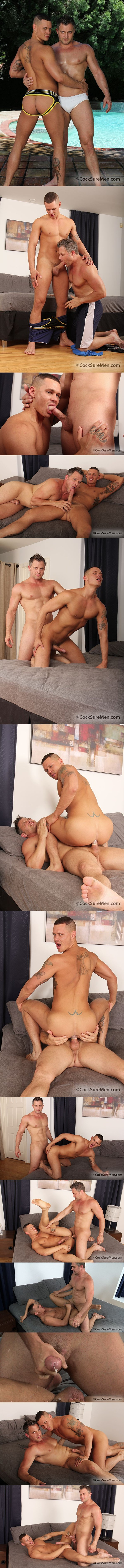 muscular Brenden Cage Fucks the load out of  sexy Tate Ryder at Cocksuremen 01