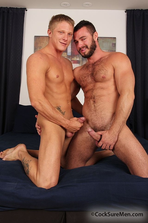 Hairy masculine Jessy Ares Fucks smooth bodied Phillip Aubrey at Cocksuremen 01