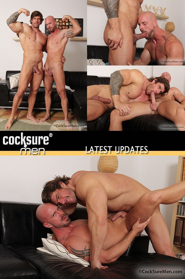 masculine muscled Zeb Atlas plows daddy Mitch Vaughn at Cocksuremen