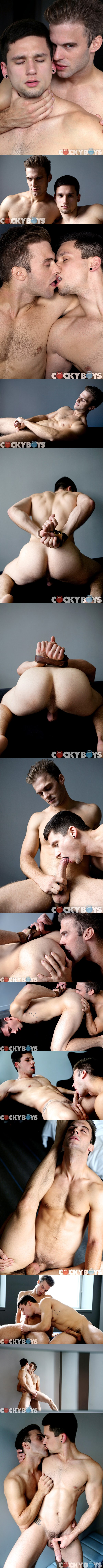 cute boy Anthony Romero gets tied up and pounded by hung Gabriel Clark at Cockyboys 01