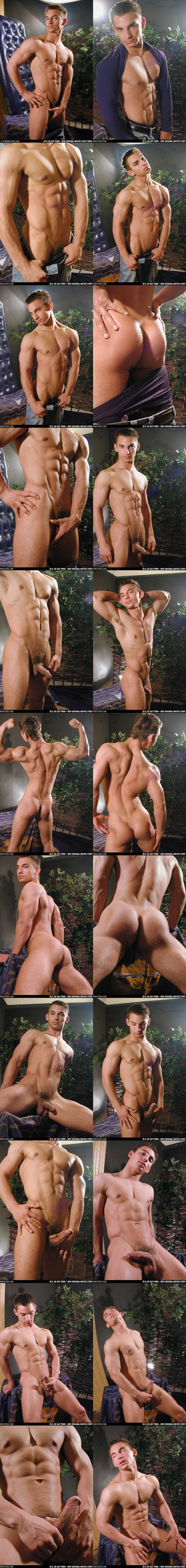 handsome ripped european Lucasz jerking off by a Helping Hand at Dominicford 02