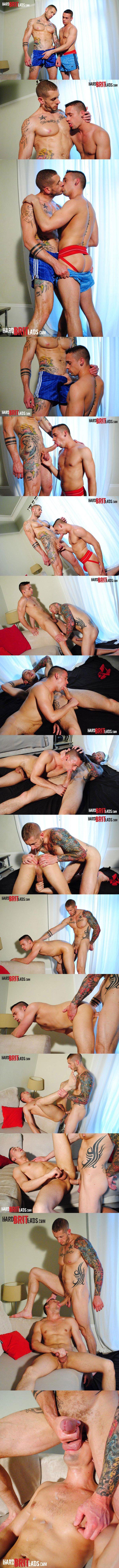 Huge skinhead bodybuilder Harley Everett Fucks cute lad Chase Reynolds at Hardbritlads 01