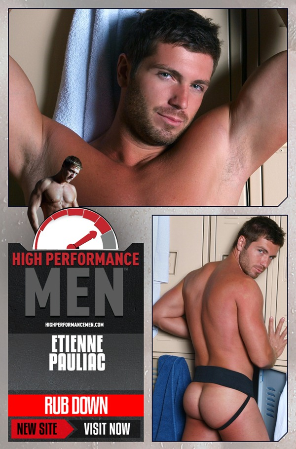 handsome sexy Etienne Pauliac jerking off at Highperformancemen