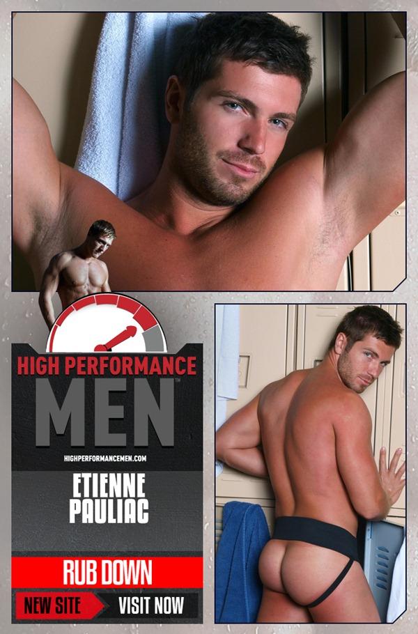 handsome sexy Etienne Pauliac jerking off at Highperformancemen