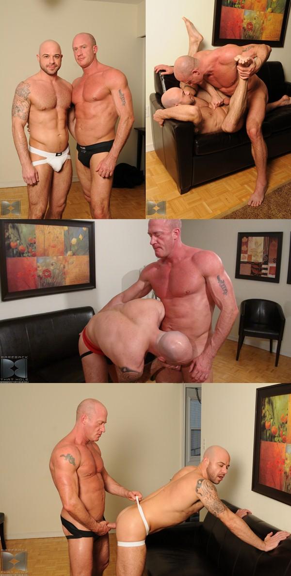 Daddy Jake Norris raw fucks and breeds muscular Ben Statham 01 at Barebackthathole 01