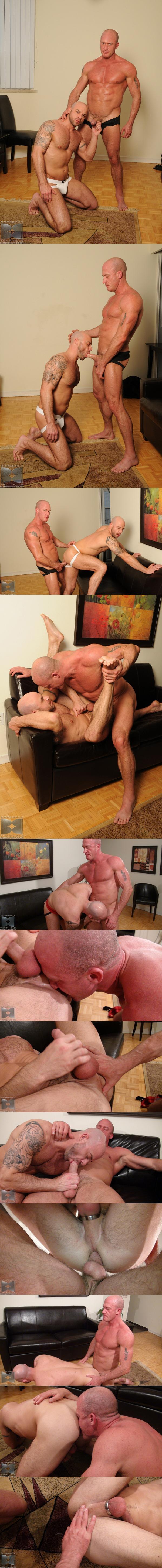 Daddy Jake Norris raw fucks and breeds muscular Ben Statham 01 at Barebackthathole 02