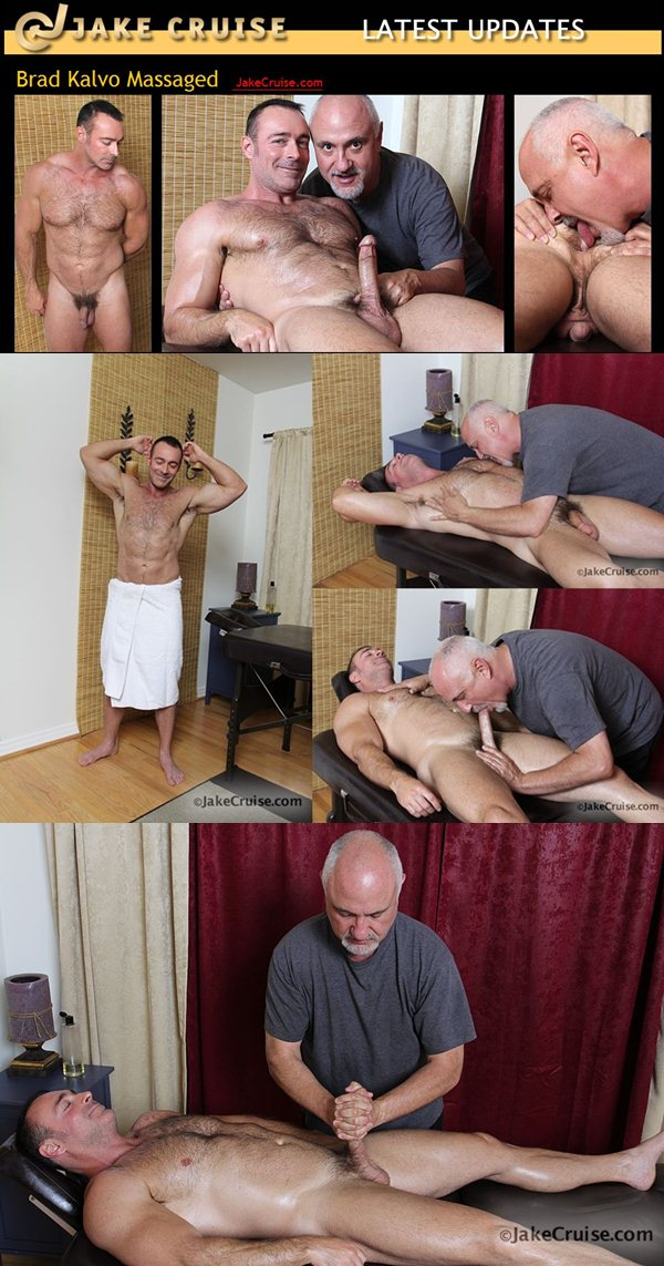 Masculine Brad Kalvo Massaged, rimmed, fingered, jerked off at Jakecruise 01