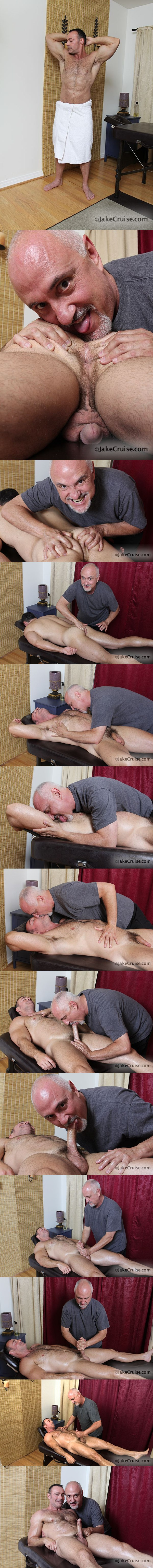 Masculine Brad Kalvo Massaged, rimmed, fingered, jerked off at Jakecruise 02