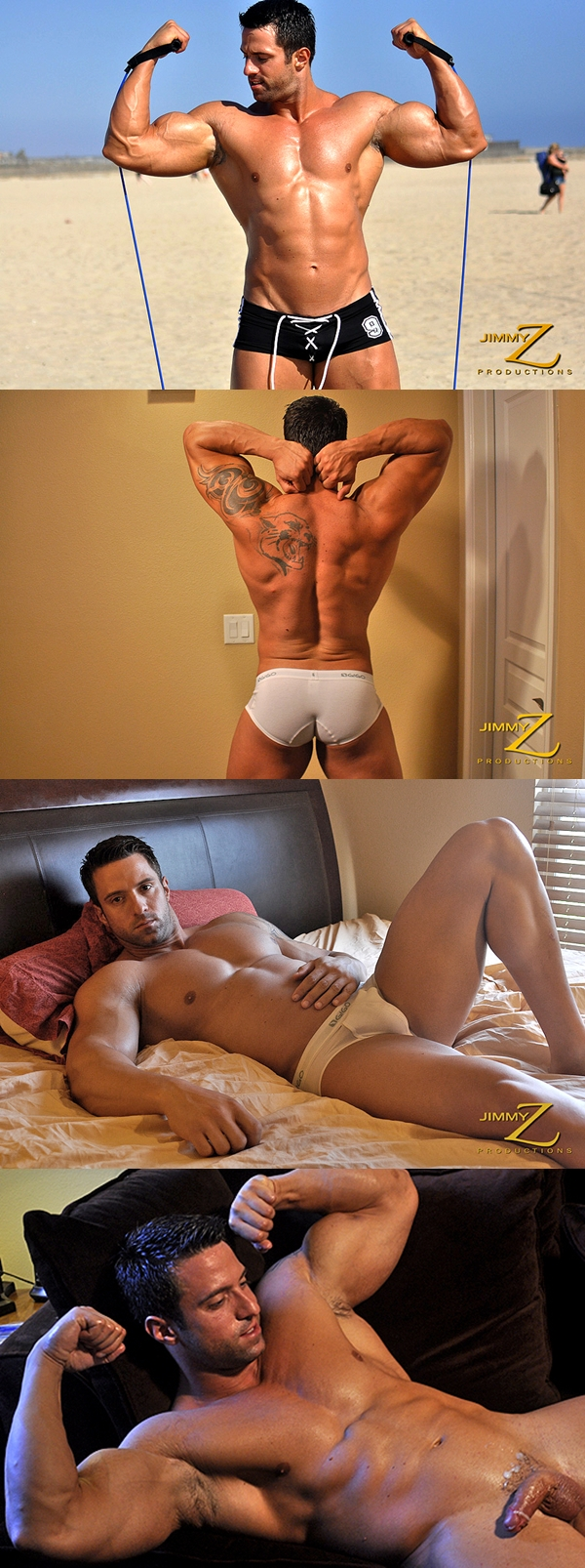 masculine and handsome Angel Diablo busts a nut at Jimmyzproductions 02