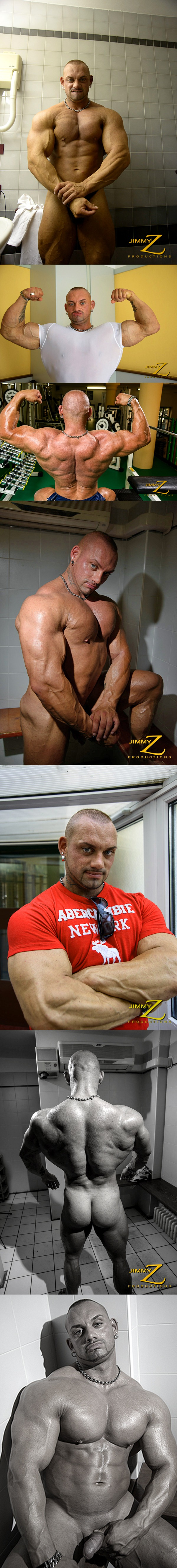 German bodybuilder Sash V has a Muscle Show-Off at Jimmyzproductions 01