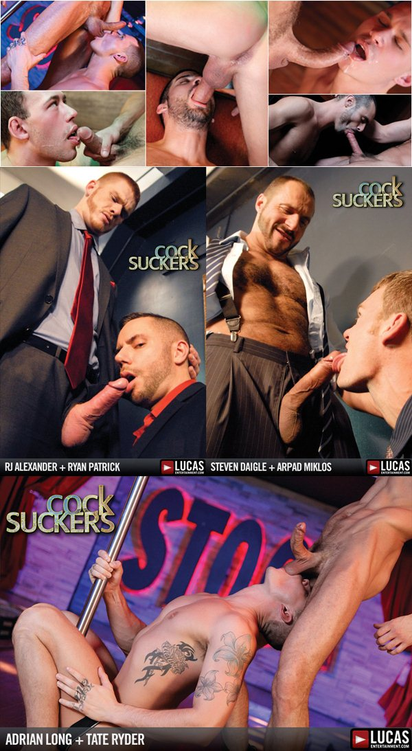 Hottes Gay Porn Stars' oral action in Cock Suckers at Lucasentertainment