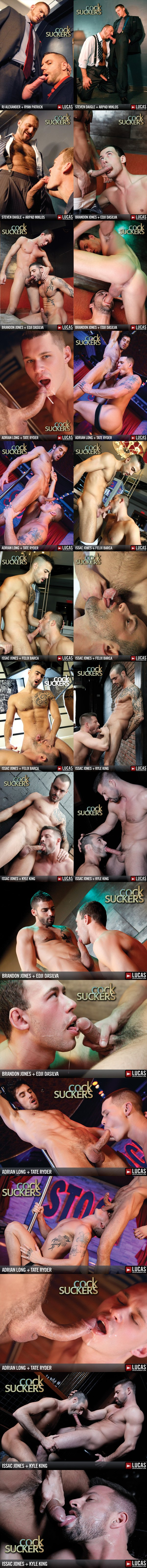 Hottes Gay Porn Stars' oral action in Cock Suckers at Lucasentertainment 01