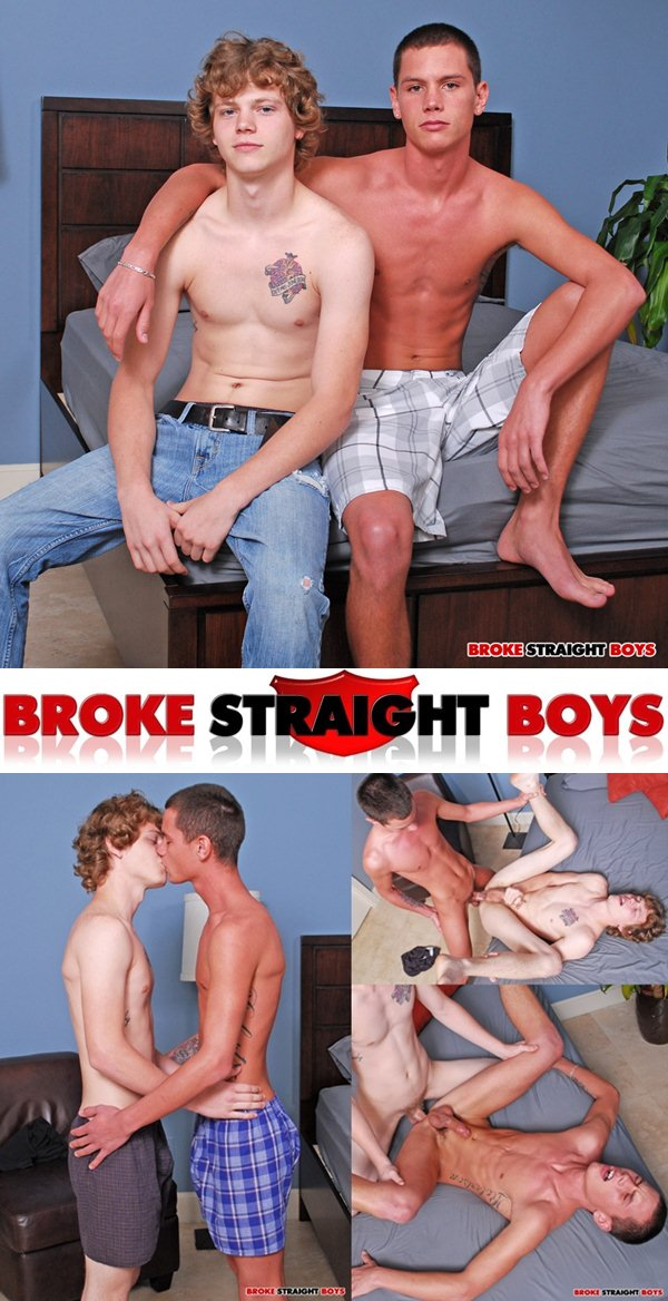 Max Flint and Cater Blane get their cherries popped up at Brokestraightboys
