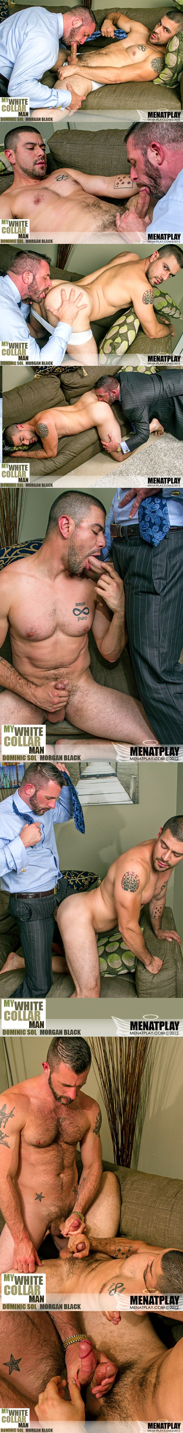 Masculine Morgan Black Pounds handsome Dominic Sol's bubble butt in My White Collar Man at Menatplay 01