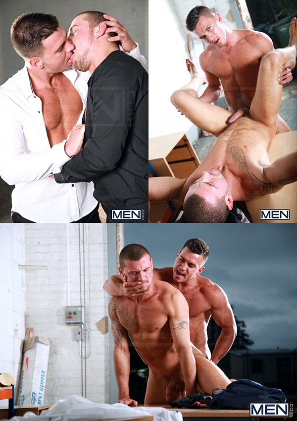 Hot Straight Paddy O'Brian Fucks masculine bottom Marco Sessions at Drillmyhole 01