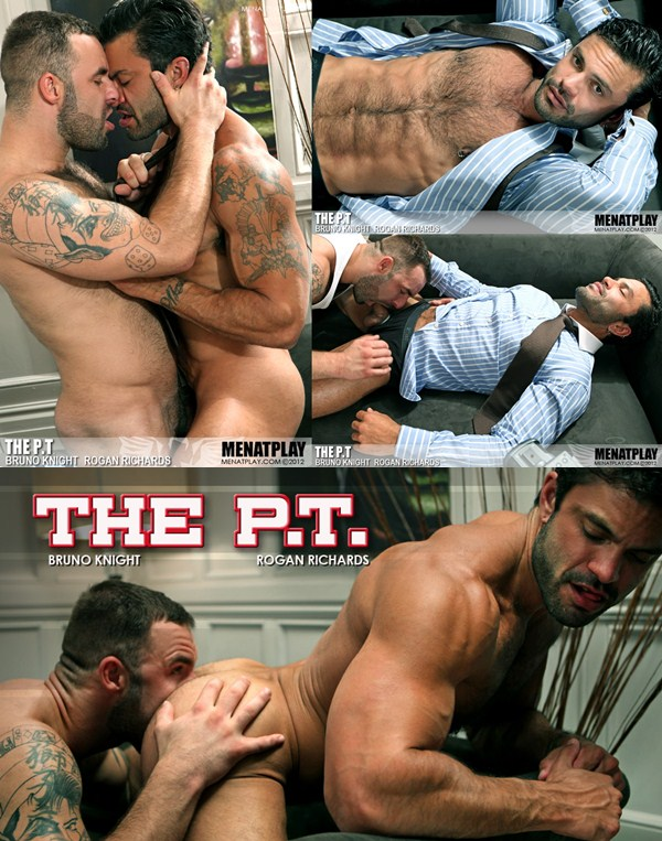 masculine Rogan Richards Fucks a big load out of beefy Bruno Knight at Menatplay