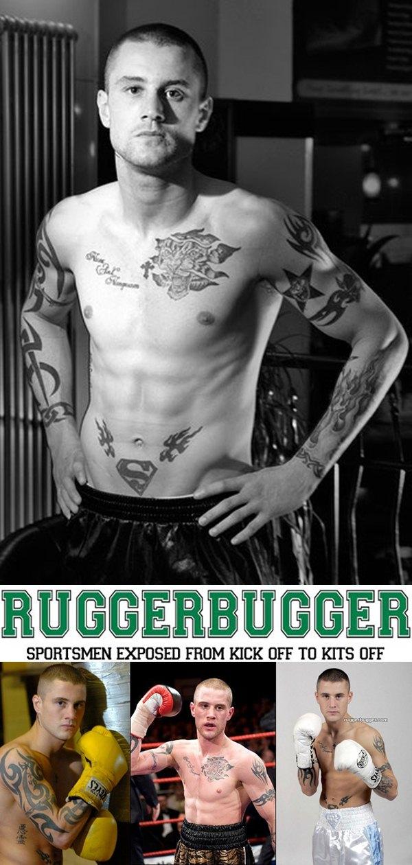 WBO super featherweight champion boxer Ricky Burns stripped stark naked at Ruggerbugger