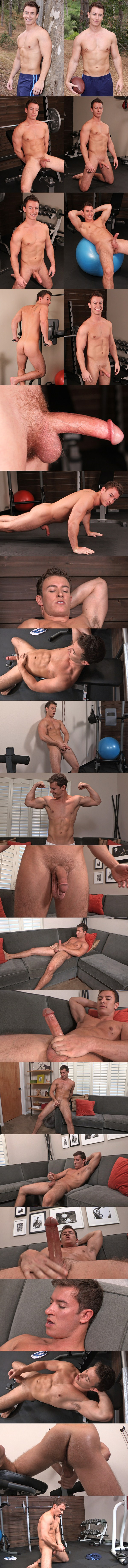 Handsome muscle jock Dwight busts a nut at Seancody 01