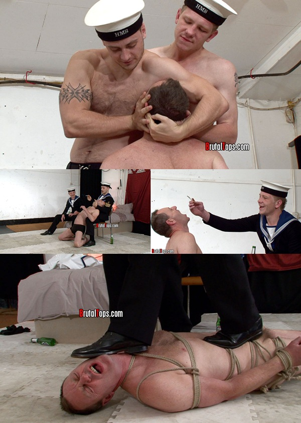 Masters Nick & Derek abuse, torture and trample over slut Martin at Brutaltops 01
