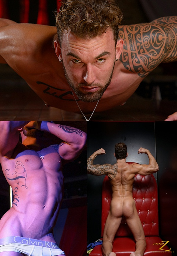 Handsome muscular tattooed stripper Randy Loren showtime at Jimmyzproductions 01