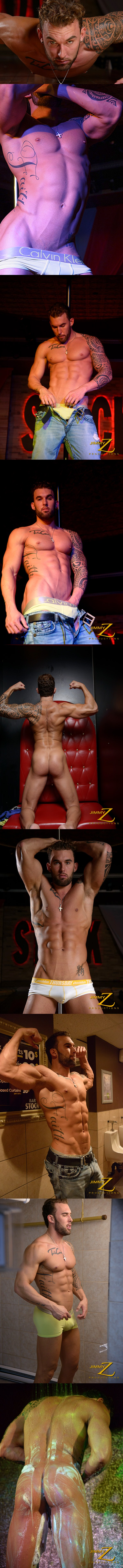 Handsome muscular tattooed stripper Randy Loren showtime at Jimmyzproductions 02