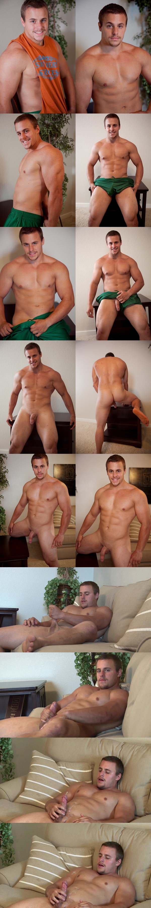 Handsome Muscular Gym Guy Carter shoots a big load at Southernstrokes 01