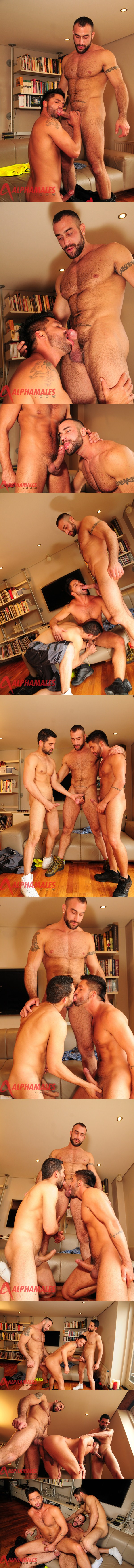 masculine Spencer Reed & Billy Baval top bearded Dominic Pacifico at Alphamales 02