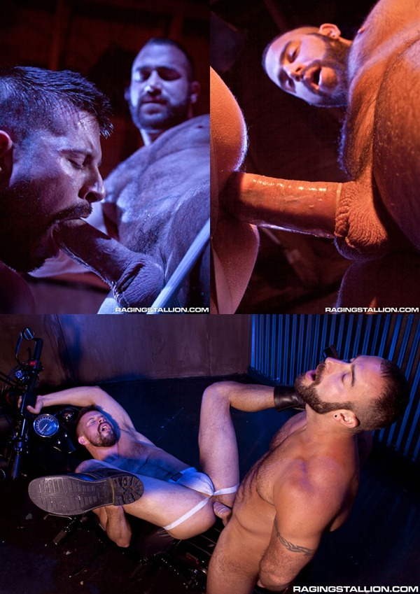 masculine bearded Spencer Reed pounds Kyle King at Ragingstallion 01