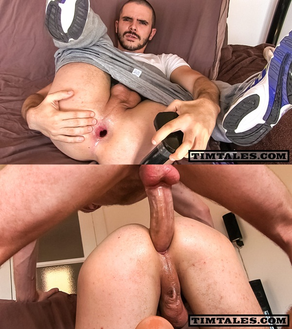 Spanish dude Alejandro takes dildo and Tim's big dick up his ass at Timtales 01