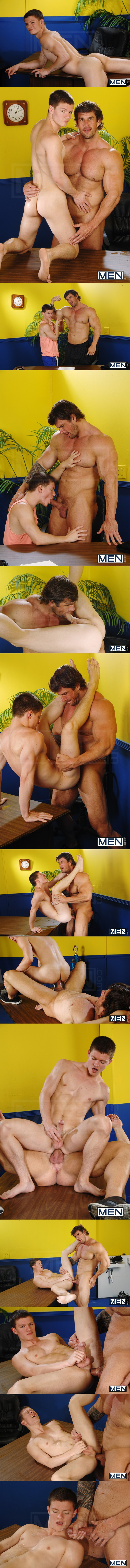 beefy muscular Zeb Atlas Fucks cute hottie Tyler Sweet at Bigdicksatschool 02